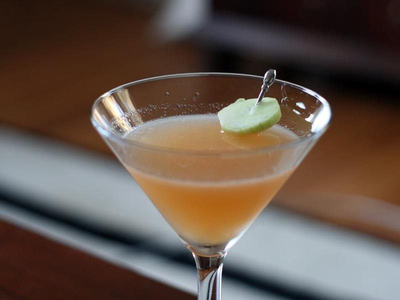 Cucumber-cantaloupe cocktail