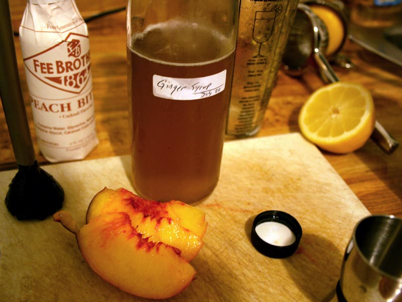 Peach-Ginger cocktail