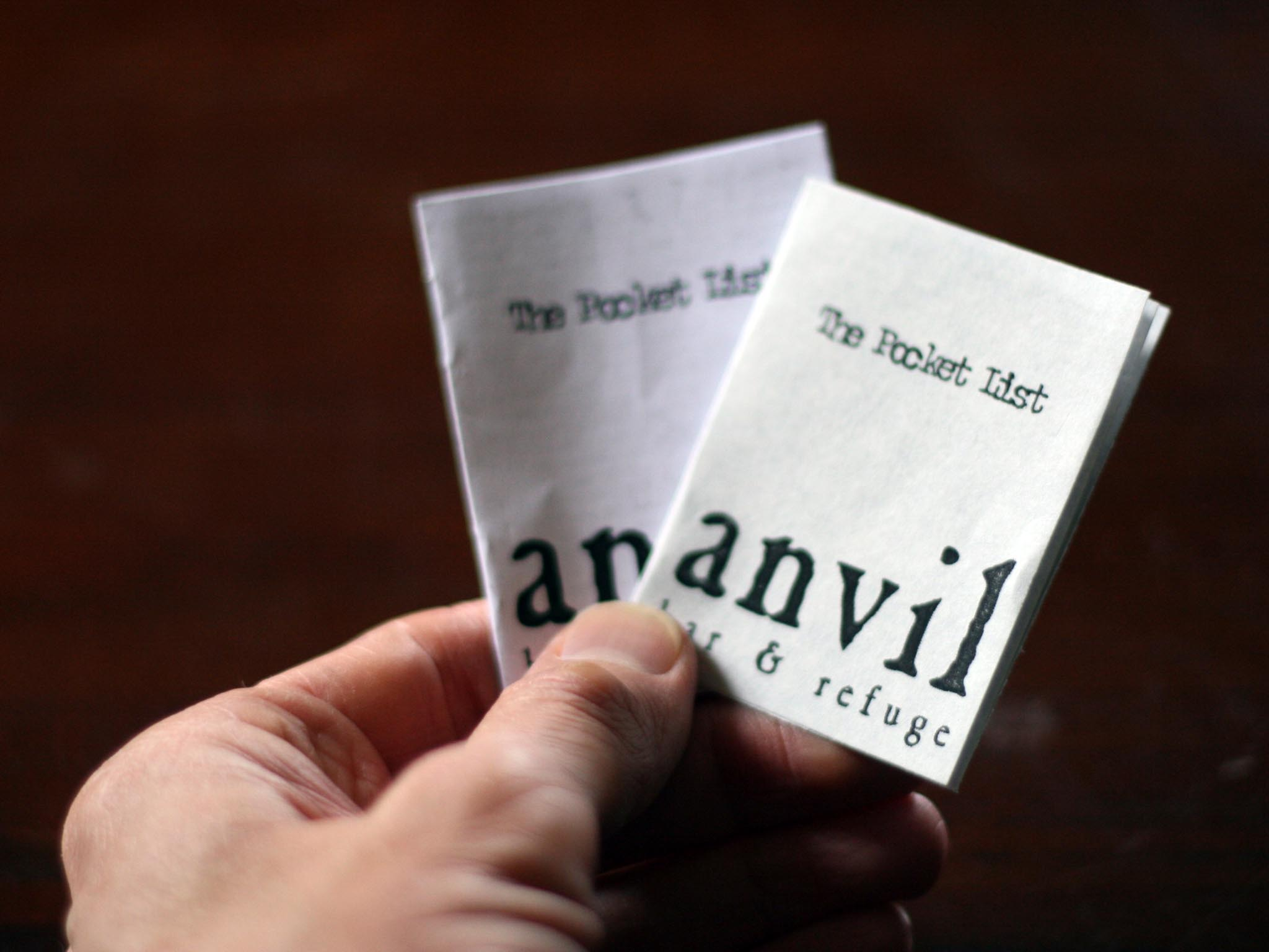 Anvil pocket list