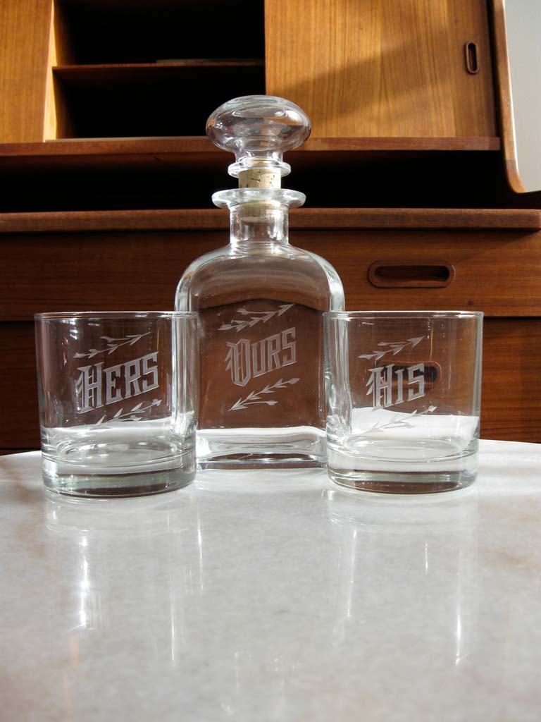 Love and Victory Decanter Set